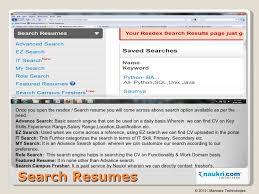 cv search on job portal .