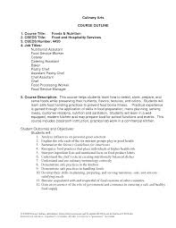 Culinary Student Cover Letter Examples Cover Letter