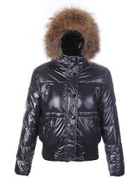 women s moncler short hooded bright down jacket in black moncler coats factory