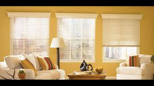 Living Room Blinds Faux Wood Blinds For Large Windows In Living Room Youtube