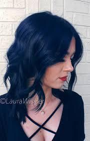Midnight Blue Black Hair Color Textured