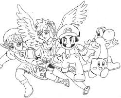 Small Picture Super Smash Bros Coloring Pages Annexhub Coloring Home