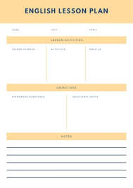 Template For Lesson Plan Customize 1 074 Lesson Plans Templates Online Canva