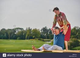 Old man thai massage