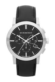 burberry men s chronograph leather strap watch nordstrom rack image of burberry men s chronograph leather strap watch