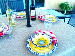 fitted patio tablecloth round outdoor tablecloth with elastic patio table tablecloths beautiful cover hole for umbrella