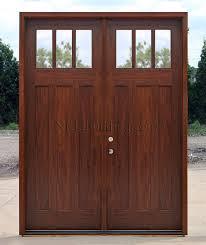 craftsman double front door. Craftsman Double Doors AC608 Clear GLass Front Door A
