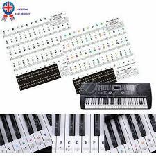 61 Key Keyboard Note Chart Music Keyboard Or Piano Stickers 61 Key Set Removable White