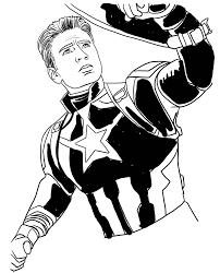 Disegno Di Capitan America Di Avengers Endgame Da Colorare