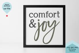 The qr code is only displayed at a size of 200px but it will be saved at a size of 200px. Comfort And Joy Christmas Svg Cut File Graphic By Lettershapes Creative Fabrica