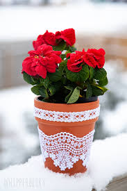 Lace Flower pots with Elmers Craft Bond Fabric Glue by WhipperBerry-7