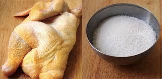 Nguyên liệu làm gà hấp muối