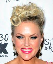 Casual Hairstyles 81 Stunning Elaine Hendrix Short Curly Casual Updo Hairstyle Light Blonde Hair