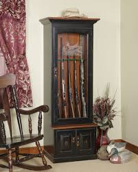 Amish Cabinet Doors Amish Gun Cabinets Oak Cherry Maple Gun Cabinets