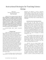 Designing Effective Science Instruction What Works In Science Classrooms Pdf Instructional Strategies For Teaching Science Online