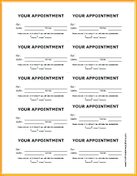 Appointment Cards Template Word Appointment Card Rahulsarkar