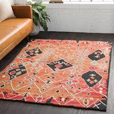 surya moroccan aqua dark green white black medium gray bright pink yellow orange rectangular area rug mcs 2304 rec