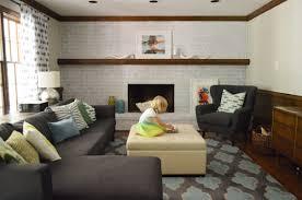 whitewash a brick wall or fireplace
