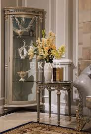 Living Room Cabinets With Glass Doors Home Furniture Livingroom Glass Cabinet Single Door Handcarved