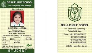 School Id Template Identity Cards Pvc School Identity Card Manufacturer From New Delhi