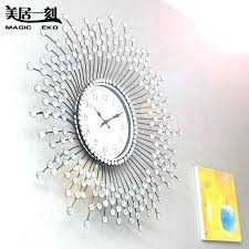 Wall Clocks For Bedroom Wall Clock In Bedroom Moment Oversized Diamond Wall  Clock Creative Living Room . Wall Clocks For Bedroom ...