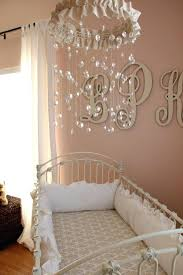 chandelier for baby girl nursery obviously my daughters nursery will have a crystal mobile its like