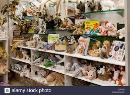 Stuffed animals on toy store shelf - USA