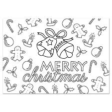Kleurplaat Kerst Post Papier