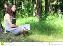 beautiful girl book. Delighful Beautiful Download Beautiful Girl In Dress Sitting On Grass Under Tree With Book  Stock Photo  Image