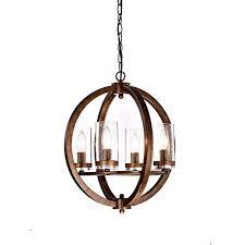 jojospring benita antique copper iron 4 light orb chandelier