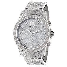 17 best ideas about mens diamond watches rolex iced out watches luxurman mens diamond watch 1 25ct jewelry for her