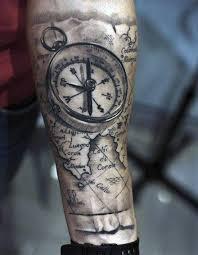 70 Compass Tetování Vzory Pro Muže Prozkoumání Nápadů