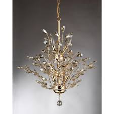 gi 13 light gold indoor leaf like crystal chandelier with shade