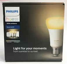 philips hue white ambience a19 e27 60w equivalent smart bulb starter kit 3 a19 bulbs