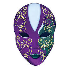 Cardboard Masks To Decorate This Large Mystique Oval Mask will decorate your dance floor in 35