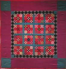 Amish Quilt Magasins Lancaster Pa Double Nine Patch 1930 Amish ... & Amish Quilt Magasins Lancaster Pa Double Nine Patch 1930 Amish Lancaster Co  Neuf Patch Amish Pays Adamdwight.com