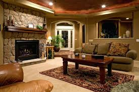 amazing stone fireplace facing pleasant sofa near wooden table in basement remodel ideas direct vent gas