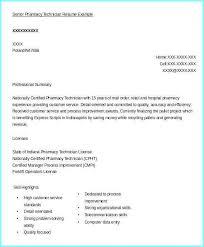 Pharmacy Technician Resumes Examples Resume Resume