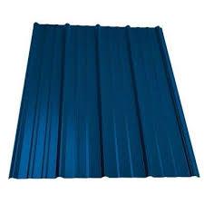 classic rib steel roof panel in ocean blue