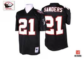 Small Atlanta 21 4x Sanders medium Jersey Men's Mitchell And Deion Nfl Falcons xl 3x Throwback Black large Alternate Ness Authentic 5x 2x