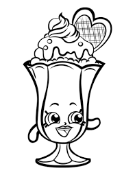Suzie Sundae Shopkin Coloring Page Free Printable Coloring Pages