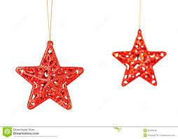 Christmas Decoration Christmas Decoration Red Stars Isolated On White Background