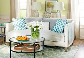 muted blues greens gray and off white color scheme