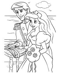 Wedding Coloring Pages Disney Princess Coloringstar