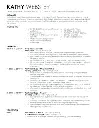 It Resume Stunning Sample Of It Resume Technical Support Samples Photo 60 60 Simple