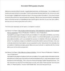 annotated bibliography templates word pdf format  sample annotated bibliography template