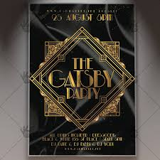 Gatsby Party Flyer Psd Template