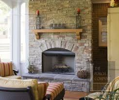 ... Stone Fireplace Mantel Ideas : Awesome Contemporary Home Decoration  With Brown Stone Brick Wall Of Fireplace ...