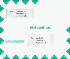 Envelope Format Large Landscape Envelope With Double Windows V2