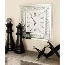 mirror wall clock 87306